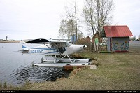 Anchorage : A Piper PA-12 with floaters in Lake Hood
