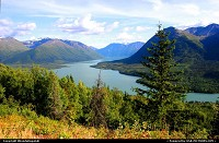 Kenai Lake as seen from the Slaughter Ridge trail in Cooper Landing, Alaska.