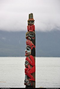 Haines : Stories live on intact totem poles such as this one in Haines, Alaska. For more Alaska and US web galleries: www.michelhammann-photography.com