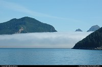 Clouds hanging in Resurrection Bay, Kenai Fjords NP, Alaska. For the complete webgallery: www.alaska-editions.nl