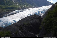 Alaska, The magnificent Exit Glacier pouring down from the Harding Icefields. For multimedia slideshow The Alaska Experience: www. album-editions.nl For more Alaska impressions: www.alaska-editions.nl