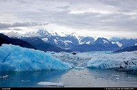 , Not in a City, AK, A searing blueness that glows from within: this light is one of the most sensual aspects of any glacier... For more Alaska glacier impressions: www.alaska-editions.com
