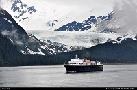 , Not in a City, AK, The Alaska Marine Highway System has been operating year-round, with regularly scheduled passenger and vehicle service to 33 communities in Alaska, plus Bellingham, Washington, and Prince Rupert, British Columbia. Traveling with an open itinerary on the Alaska Marine Highway is a great way to explore at will. Shot made in Prince William Sound, close to Whittier. For more Alaska impressions: www.alaska-editions.com
