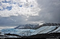 The Matanuska Glacier is one of the most dramatic glaciers you can see in Alaska from the road system. The 25 miles long glacier originates in the Chugach Mountain Range and is about 4 miles wide at its terminus. During a 5 hour stay the weather was very variable and that offered us a wonderful