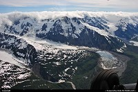 Not in a City : With a bushplane we fly to geographically isolated parts of Alaska were we can observe the most stunning glacier landscapes! For impressions of our flightseeing experiences over Alaska: www.alaska-editions.com