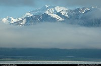 Alaska, The cloud-obscured coastline of Yakutat Bay. For the complete webgallery: www.alaska-editions.nl