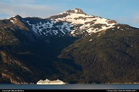 During summer cruiseships are passing the scenic coastline of Tongass National Forest. A 17 million acres area spread throughout Southeast Alaska. For more Alaska and US web galleries: www.michelhammann-photography.com