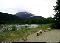 Ending a raft ride, we sat on these benches to view the beautiful state of Alaska.