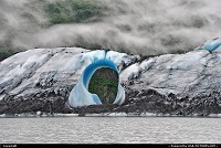 Valdez : This iceberg, calved from Valdez Glacier (Alaska), seems the result of human work. In reality he is eroded to this form by the action of tide, wind and weather. For more Alaska web galleries: www.alaska-editions.com