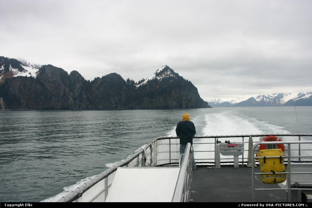 Picture by elki:  Alaska   cruise, boat, glacier, bear