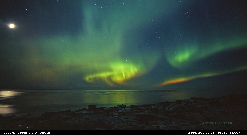 Picture by Dennis C. Anderson: Not in a city Alaska   aurora