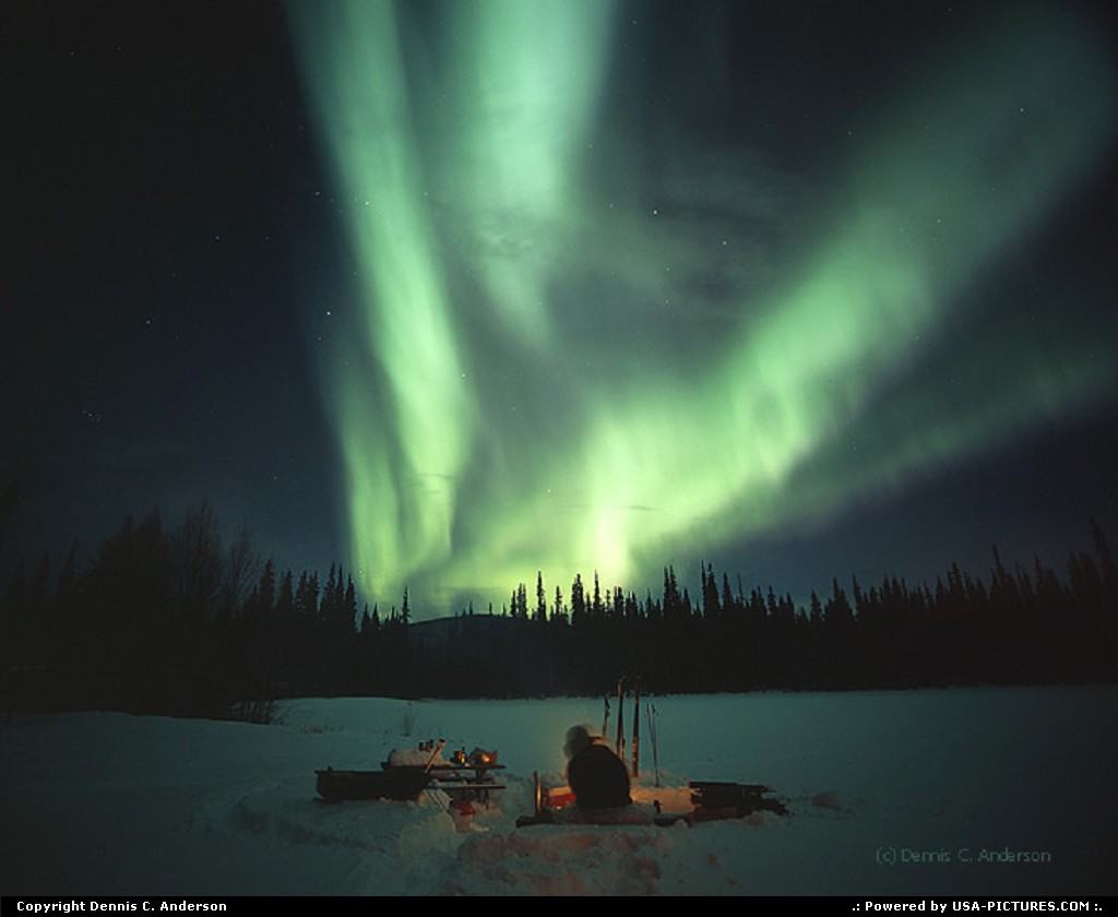 Picture by Dennis C. Anderson: Not in a city Alaska   Aurora northern lights