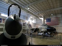 Alabama, Mouth wide opened, this F-8 Crusader seems to eat me in Battleship Memorial hangar. Please Tomcat, help me !