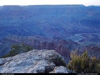 End of the day at the Grand Canyon, Yavapai Point
