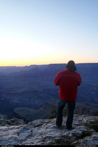 enjoying the sunset at the Grand Canyon...this is me :)