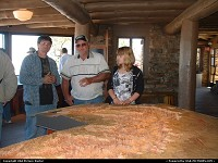 This is inside the visitors center at the top of the Grand Canyon. It gives you a layout of the Grand Canyon itself.