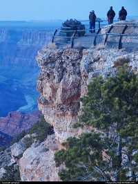 End of the day at the Grand Canyon, Yavapai Point, what a view !