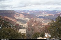 Arizona, Grand Canyon NP, from the south rim scenic road.