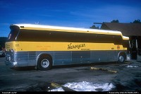 Arizona, The coaches once built by MCI/Motor Coach International were famous for their durability. Entering then the 1990s by celebrating its third decade of reliable service, this one was operated by Harvey's. In addition to tours and excursion, the latters was also granted the operating licenses for food and lodging within the Park