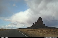 Arizona, Agathla Peak, on the road 163, your gateway to Monument Valley
