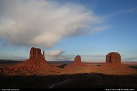 Monument Valley, at the entrance of the park.
