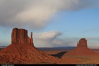 Arizona, Monument Valley. East and West Mitten Buttes.