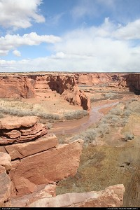 Canyon de Chelly - Chinle Wash from the south rim scenic drive.