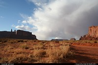 Monument Valley. Overview of the park, with the