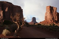 Arizona, end of the day over Monument Valley