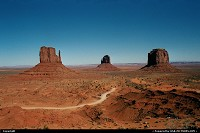 One of the very cliches of West America, Monument Valley. Kind of old picture but today standars; it show with some grain