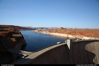 Glen Canyon Damn, near Page. The second largest dam on the Colorado.