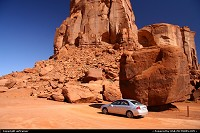 Photo by airtrainer | Not in a City  monument valley, car, rock
