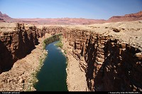 Arizona, Overview of Marble Canyon and the Colorado from Navajo Bridge.