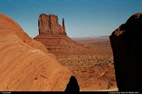 Arizona, One of the very cliches of West America, Monument Valley. Kind of old picture but today standars; it show with some grain