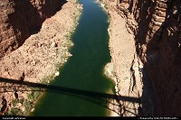 Overview of Marble Canyon and the Colorado from Navajo Bridge.