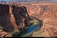 The Colorado River, known for its dramatic canyons. Shot made near tthe city of Page, Arizona.