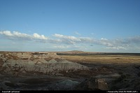end of the day over Petrified Forest, approaching the Painted Desert at the north of the park...