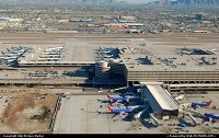 Photo by LoneStarMike | Phoenix  airport, aerial, terminal,