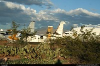One of the several boneyard near Tucson. Desert colors are often hard to catch but the cactus put a very Arizona note on the composition. Several thousands of aircraft are stored and/or dismanteled here, creating one of the largest recycling complex in the world.