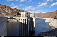 not in a city : Two of the fours water intake feeding the greedy hoover dam to produce clean, sustainable hydroelectricity. These twos are the ones on Arizona side.