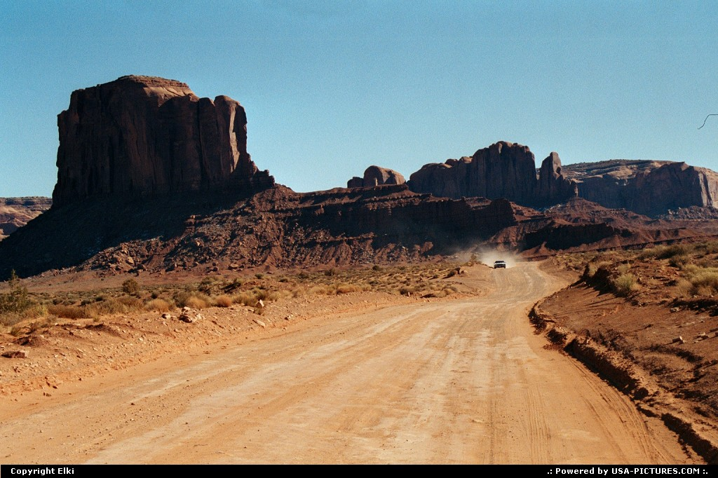 Picture by elki:  Arizona   road trip, unpaved road