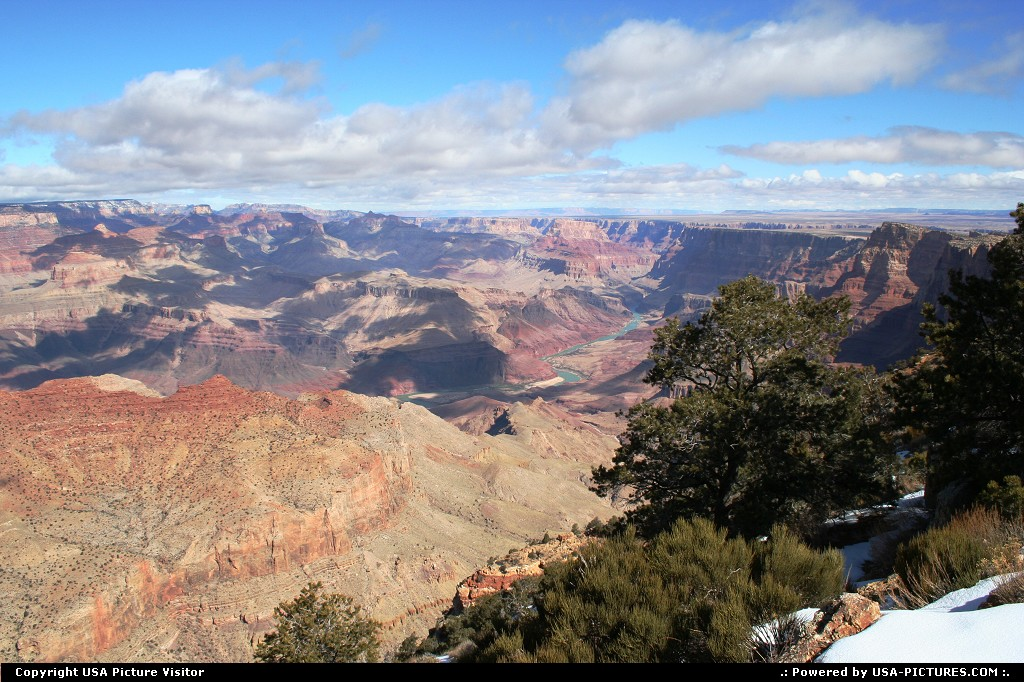 Picture by airtrainer:  Arizona Grand Canyon  grand, canyon, colorado, river, snow