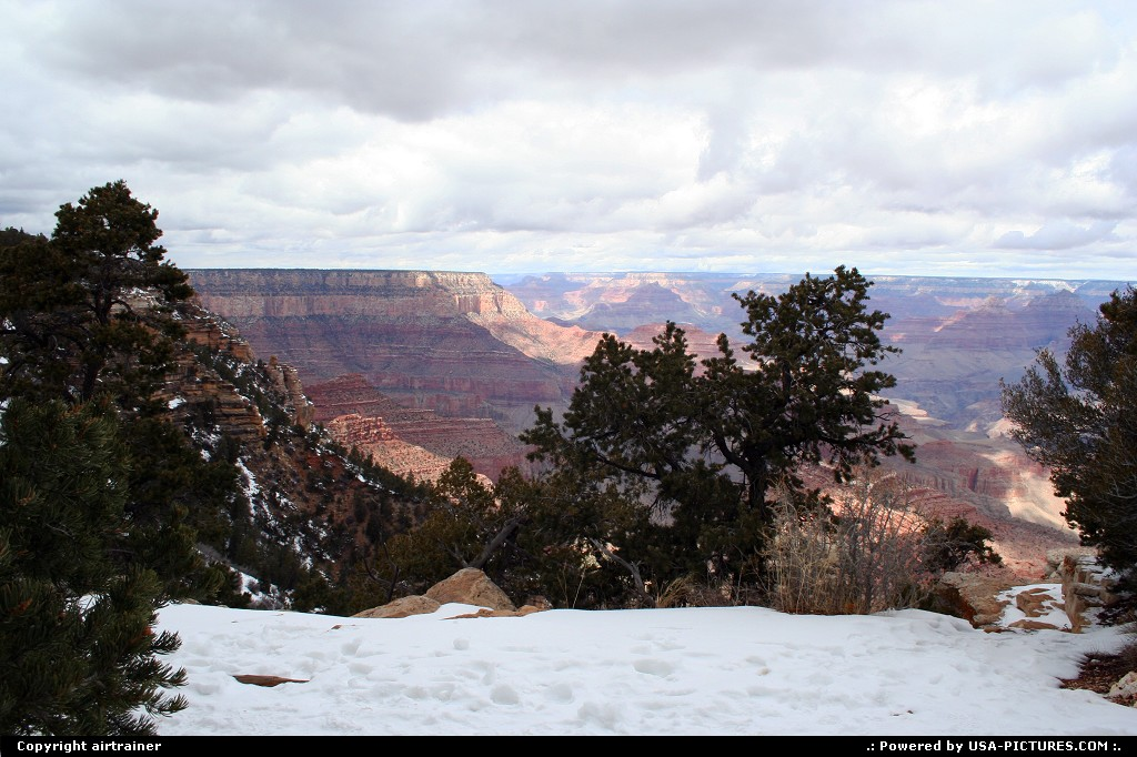 Picture by airtrainer:  Arizona Grand Canyon  Grand Canyon, south rim, scenic road, snow