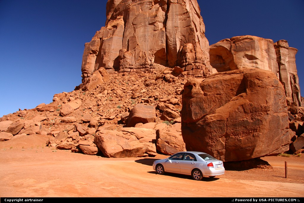 Picture by airtrainer:Not in a CityArizonamonument valley, car, rock