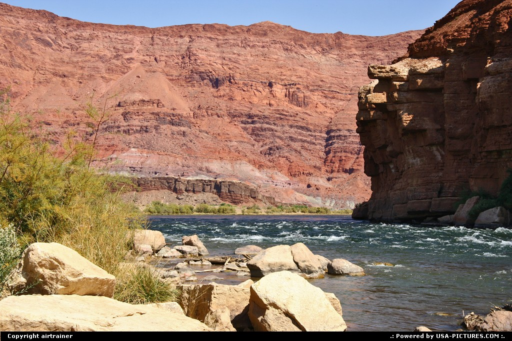 Picture by airtrainer: Not in a City Arizona   colorado, lees ferry, river