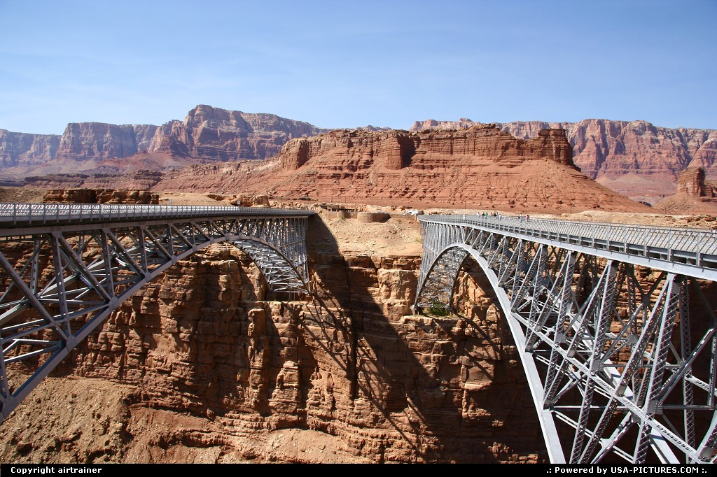 Picture by airtrainer: Not in a City Arizona   navajo, bridge, colorado, canyon