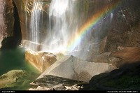 Photo by elki |  Yosemite pool, waterfall, rainbow