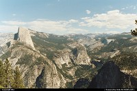 Amazing view from Glacier Point. Half Dome, to the left