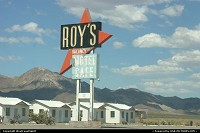 Amboy : Roy's Motel and Cafe on Route 66. Still an icon of the Mother Road. Too late to enjoy a