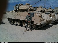 Barstow : M2A3 Bradley and yours truly.